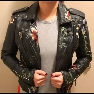 Blank NYC vegan leather jacket